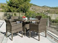 Set mesa de comedor para exteriores Borsalino 9090 - Set de comedor con resistencia garantizada y acabado de lujo Borsalino 9090