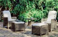 Set sillones y mesa auxiliar para exteriores BORSALINO 50 - Set mesa auxiliar o sillones reclinables para exteriores BORSALINO 50