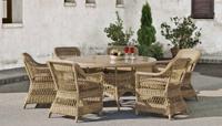 Set mesa de comedor para exteriores redondo Cisne 150 - Set de comedor redondo con resistencia garantizada y acabado de lujo Cisne 150