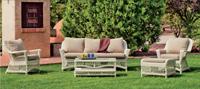 Set muebles para exteriores DUBAY - Muebles de Rattan de lujo con resistencia garantizada DUBAY