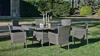 Set mesa de comedor para exteriores FORMENTERA 140 - Mesa de comedor con resistencia garantizada y acabado de lujo  FORMENTERA 140