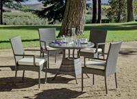 Set mesa de comedor para exteriores MALI 90 - Mesa de comedor con resistencia garantizada y acabado de lujo MALI 90