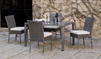 Set mesa de comedor para exteriores MALI/DORIS 130 - Mesa de comedor con resistencia garantizada y acabado de lujo MALI/DORIS 130