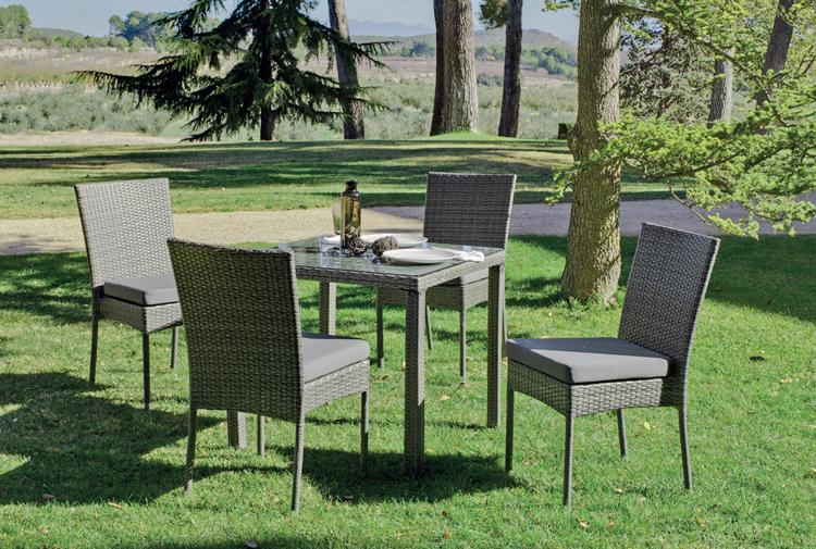 Set mesa de comedor para exteriores MALI/DORIS 808 - Mesa de comedor con resistencia garantizada y acabado de lujo MALI/DORIS 808
