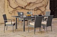 Set mesa extensible para exteriores MALI 150-200 - Set mesa de comedor extensible para exteriores MALI 150-200 con resistencia garantizada y acabado de lujo