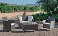 Set muebles de lujo para exteriores PENELOPE 7 - Muebles de Rattan de lujo con resistencia garantizada  PENELOPE 7