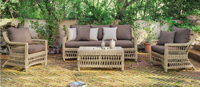 Set muebles de lujo para exteriores Cisne - Muebles de Rattan de lujo con resistencia garantizada Cisne 8