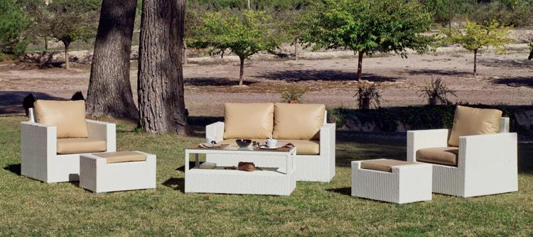 Mia home set muebles para exteriores con cojines nauticos tuscan - Muebles para exteriores ...