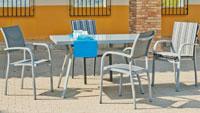 Set sillas y mesa modelo Amberes 150 - Juego de mesa desmontable de aluminio con tablero poliwood modelo Amberes 150