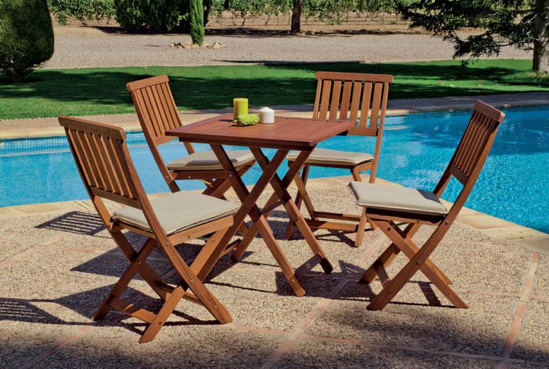 Mia home set sillas y mesa de comedor colony 707 for Set sillas comedor