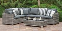 Set muebles de lujo para exteriores Florencia 7-10 - Muebles robustos con resistencia garantizada