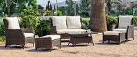 Set muebles para exteriores GARONA - Muebles de Rattan de lujo con resistencia garantizada