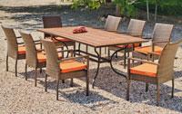 Set sillas y mesa mosaico modelo Liborne/Vetonia 200 - Juego de mesa en Acero mosaico con sillas de rattan modelo Liborne/Vetonia 200