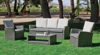 Set muebles de lujo para exteriores VERONA - Muebles de Rattan de lujo con resistencia garantizada Verona