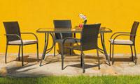 Set sillas y mesa modelo Sevilla 150 - Juego de mesa desmontable de acero con cristal templado modelo Sevilla 150