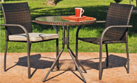 Set sillas y mesa modelo Sevilla 70 o 90 - Juego de mesa desmontable de acero con cristal templado modelo Sevilla