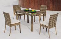 Set mesa de comedor para exteriores Abasari 130 - Set mesa de comedor con resistencia garantizada y acabado de lujo Abasari 130