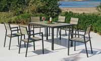 Set mesa de comedor para exteriores Ankara - Mesa de comedor con resistencia garantizada y acabado de lujo Ankara