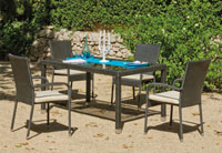 Set mesa de comedor para exteriores Ampurias - Mesa de comedor con resistencia garantizada y acabado de lujo Ampurias