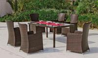 Set mesa de comedor para exteriores Corleone - Mesa de comedor con resistencia garantizada y acabado de lujo Corleone