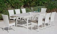 Set mesa de comedor para exteriores Ceram - Mesa de comedor con resistencia garantizada y acabado de lujo Ceram