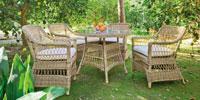 Set mesa de comedor para exteriores Cisne - Mesa de comedor con resistencia garantizada y acabado de lujo Cisne