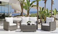 Set muebles de lujo para exteriores DOHA 7 - Muebles de Rattan de lujo con resistencia garantizada DOHA 7