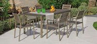 Set mesa de comedor para exteriores Eden RE - Mesa de comedor con resistencia garantizada y acabado de lujo Eden RE