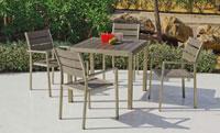 Set mesa de comedor para exteriores Eden CU - Mesa de comedor con resistencia garantizada y acabado de lujo Eden