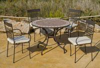 Set sillas o mesa mosaico modelo Alban/Vigo 140  - Set sillas o mesa mosaico modelo Alban/Vigo 140