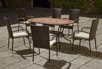 Set sillas o mesa mosaico modelo Asburgo/Bergamo 160