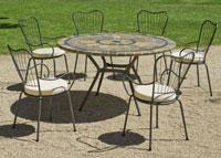 Set sillas o mesa mosaico modelo Edna 140 - Set sillas o mesa mosaico modelo Edna 140