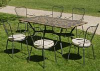 Set sillas o mesa mosaico modelo Edna 160 - Set sillas o mesa mosaico modelo Edna 160