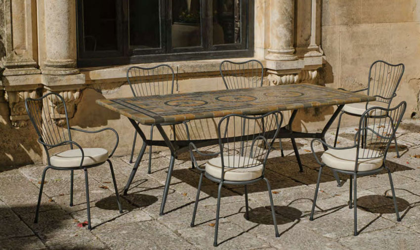 Set sillas o mesa mosaico modelo Edna 200 - Set sillas o mesa mosaico modelo Edna 200