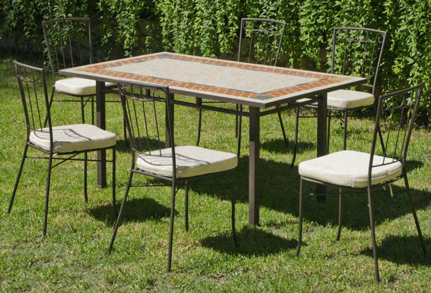 Set sillas o mesa mosaico modelo Regina/Azara 150