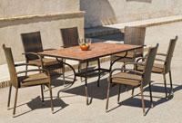 Set sillas o mesa mosaico modelo Teide/Bergamo 160