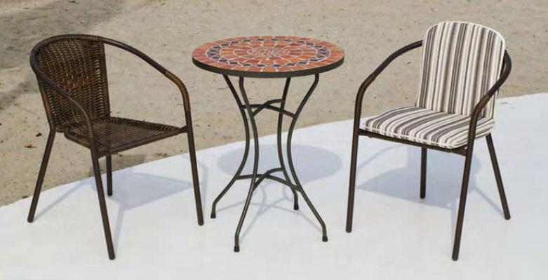 Set sillas o mesa mosaico modelo Oberoy/Brasil 60 - Set sillas o mesa mosaico modelo Oberoy/Brasil 60