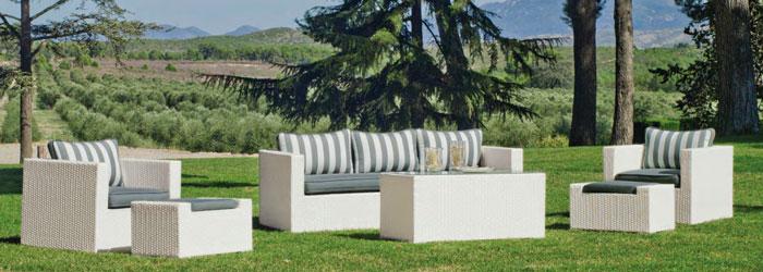 Set muebles de lujo para exteriores FLora - Set muebles para exteriores  FLora