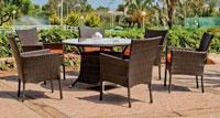 Set mesa de comedor para exteriores Luxton - Mesa de comedor con resistencia garantizada y acabado de lujo Luxton