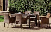Set mesa de comedor para exteriores Luxton Rectangular - Mesa de comedor con resistencia garantizada y acabado de lujo Luxton Rectangular
