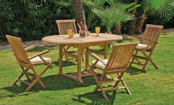 Set mesa de comedor para exteriores Lausana - Mesa de comedor con resistencia garantizada y acabado de lujo Lausana-82494ldk