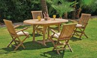 Set mesa de comedor para exteriores Lausana - Mesa de comedor con resistencia garantizada y acabado de lujo Lausana