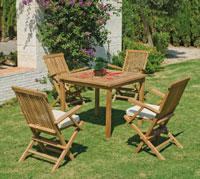 Set mesa de comedor para exteriores Loreta - Mesa de comedor con resistencia garantizada y acabado de lujo  Loreta
