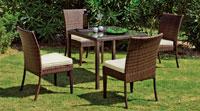 Set mesa de comedor para exteriores Marzia - Mesa de comedor con resistencia garantizada y acabado de lujo Marzia