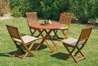 Set mesa de comedor para exteriores Melrose 70 - Mesa de comedor con resistencia garantizada y acabado de lujo Melrose 70