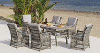 Set de comedor de lujo para exteriores Chanty - Set mesa de comedor de lujo para exteriores Chanty
