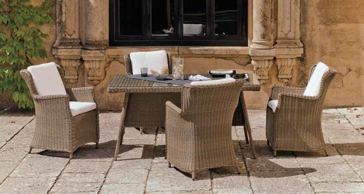 Mesa de comedor de lujo para exteriores Malta