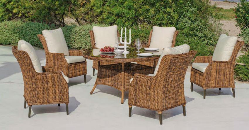 Set de comedor de lujo para exteriores Panama 150 - Set mesa de comedor de lujo para exteriores  Panama 150