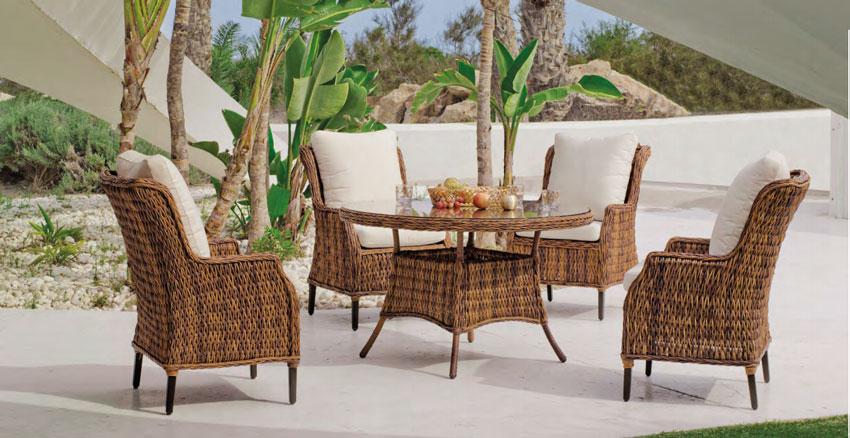 Set  de comedor de lujo para exteriores Panama 120 - Set mesa de comedor de lujo para exteriores  Panama 120
