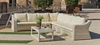 Sofa Newport - Sofa Newport, fabricado en aluminio y tapizados en dralon